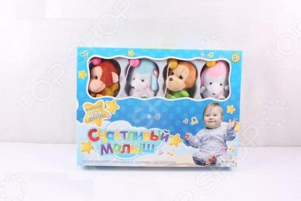 Карусель музыкальная на кроватку Счастливый малыш «Обезьянки» cotoons музыкальная каруселька на кроватку с рождения