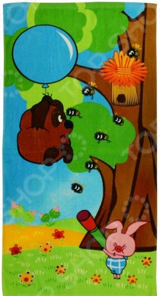 Полотенце махровое Мульткарнавал «Винни-Пух» 01300115881. В ассортименте мультики на флешке винни пух usb