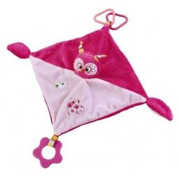 фото Мягкая игрушка развивающая Жирафики «Платочек с совой»