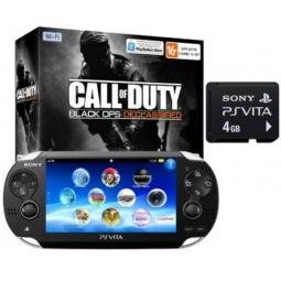 Купить Игровая консоль SONY PlayStation Vita 4Gb Wi-Fi и код загрузки Call of Duty Declassified