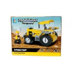 Купить Конструктор игровой 1 Toy «Строительная техника. Трактор»