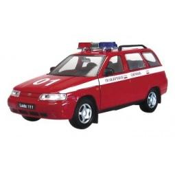 фото Машинка металлическая Autotime «ЛАДА 111. Пожарная охрана»