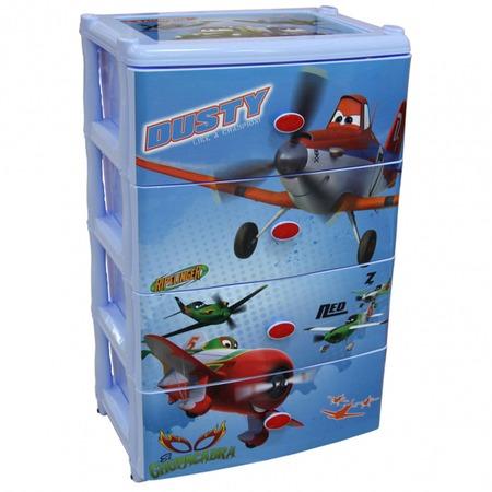 Купить Комод 4-х секционный широкий Альтернатива Disney «Самолеты»