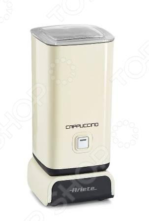 Вспениватель молока Ariete 2878 это отличный выбор для любителей таких кофейных напитков, как: латте, капучино, латте-макиато, мокко и т.д. Прибор прост и удобен в использовании, может применяться для взбивания как горячего, так и холодного молока. Антипригарное покрытие емкости предотвращает пригорание и облегчает чистку капучинатора. Объем емкости для подогрева молока составляет 250 мл, а для взбивания 125 мл.