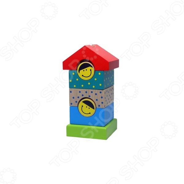 Игрушка-пирамидка Alatoys «Домик» ПДМ02 игрушка