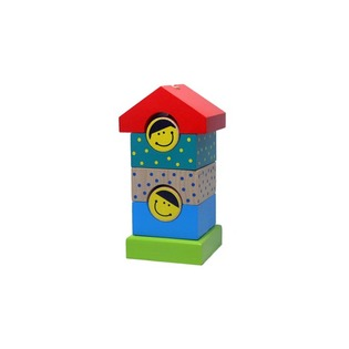 Купить Игрушка-пирамидка Alatoys «Домик» ПДМ02