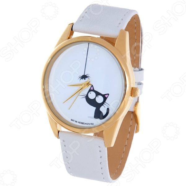Часы наручные Mitya Veselkov «Кошка и паучок» Shine