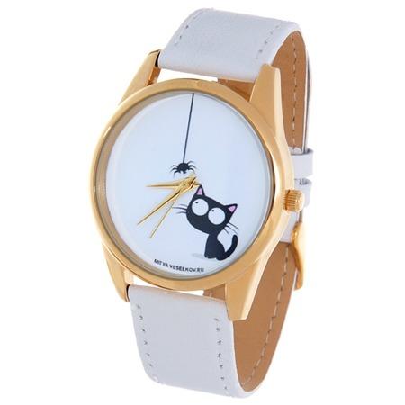 Купить Часы наручные Mitya Veselkov «Кошка и паучок» Shine
