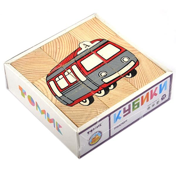 кубики томик кубики цветные 20шт Кубики Томик «Транспорт»