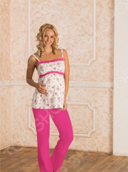 Пижама с брюками Nuova Vita 106.52. Цвет: экрю, фуксия