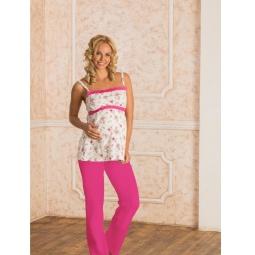 фото Пижама с брюками Nuova Vita 106.52. Цвет: экрю, фуксия. Размер: 42