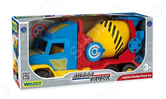 Машинка игрушечная Wader «Бетономешалка» Super Truck