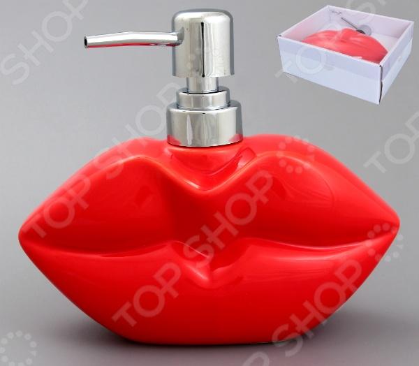 фото Диспенсер для мыла Elan Gallery «Губы алые», купить, цена