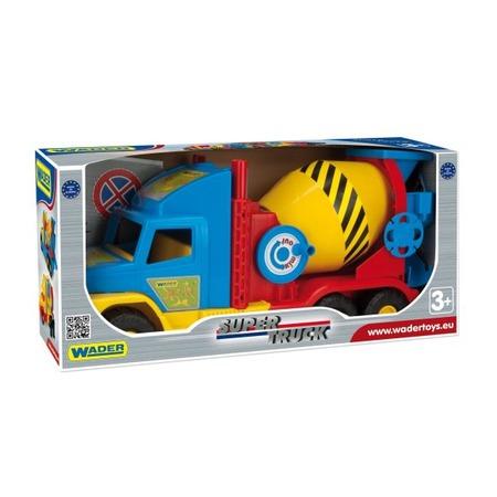 Купить Машинка игрушечная Wader «Бетономешалка» Super Truck