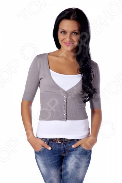 Жакет Mondigo 9827. Цвет: серыйЖакеты. Пиджаки<br>Жакет Mondigo 9827 представляет собой очаровательный элемент верхней одежды на пуговицах с коротким рукавом. Он выполнен из тростниковой ткани и хлопка, что позволяет коже дышать и обеспечивает легкость при ношении. Благодаря такому набору характеристик модель отлично подходит для каждодневного использования.<br>