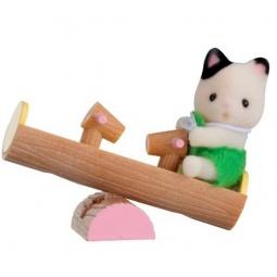 фото Набор игровой Sylvanian Families 5205 «Котенок на качелях»