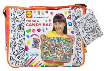 Сумка-раскраска Alex «Раскрась сумку с узором из конфет» Сумка-раскраска Alex «Раскрась сумку с узором из конфет» /