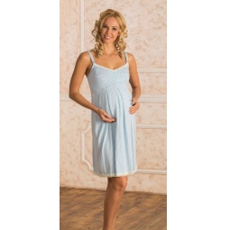Купить Сорочка для беременных Nuova Vita 902.2. Цвет: голубой