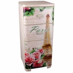 Купить Комод 4-х секционный плетеный Альтернатива «Париж»