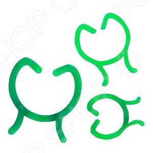 Набор колец-фиксаторов Green Apple GPCR-3Поддержка для растений<br>Набор колец-фиксаторов Green Apple GPCR-3 в помощь растениям. Такие кольца применяют для растений с хрупкими стеблями, которые просто не могут расти без посторонней помощи. Кольца легко гнутся, не травмируя стебли. Также их можно применить для подвязки растения к специальной опоре, что стимулирует правильный рост без повреждений. Кольца изготовлены в зеленой расцветке, поэтому не будут привлекать к себе внимание, сливаясь с общей массой цветов и кустарников.<br>