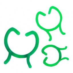 фото Набор колец-фиксаторов Green Apple GPCR-3