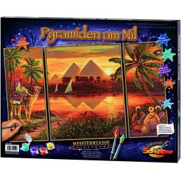 Купить Раскраска-триптих по номерам Schipper «Пирамиды»