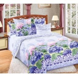 фото Комплект постельного белья Королевское Искушение «Гортензия». 2-спальный. Размер простыни: 220х195 см