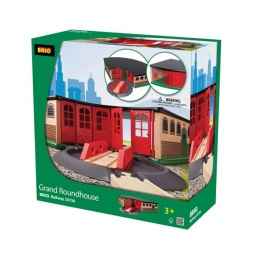 Купить Депо железнодорожное большое с поворотным треком-мостом и главными воротами Brio 33736