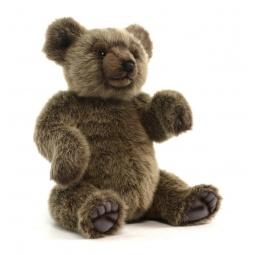 фото Мягкая игрушка для ребенка Hansa «Медведь серебристый»