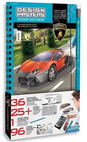 Набор с эскизами и трафаретами Desing Masters Lamborghini