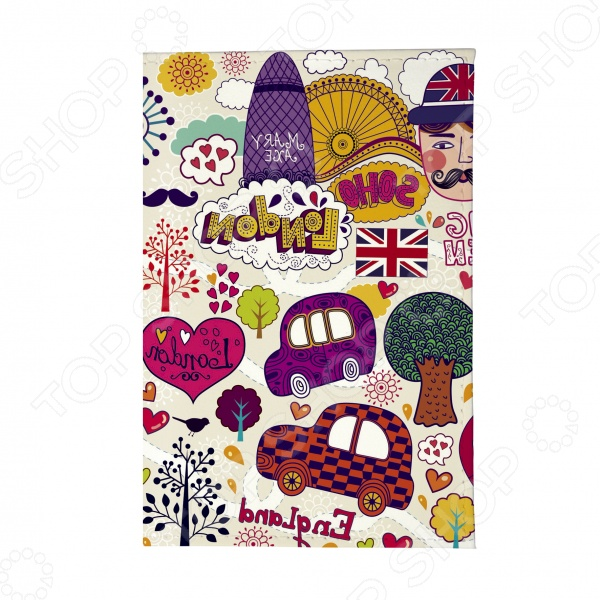 Обложка для паспорта Mitya Veselkov «Праздничный Лондон»Обложки для паспортов<br>Mitya Veselkov Праздничный Лондон это современная и ультрамодная обложка для вашего паспорта. Представленная модель предназначена для людей, которые хотят сделать жизнь ярче, красочней и к традиционным вещам подходят творчески. Изделие подходит как для внутреннего, так и заграничного удостоверения личности. Изготовленная из ПВХ обложка, надежно защитит важный документ от внешнего воздействия, поэтому он всегда будет как новый. Придайте паспорту оригинальности и подчеркните свою уникальность!<br>