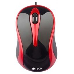 Купить Мышь A4Tech N-350-2 Black-Red USB