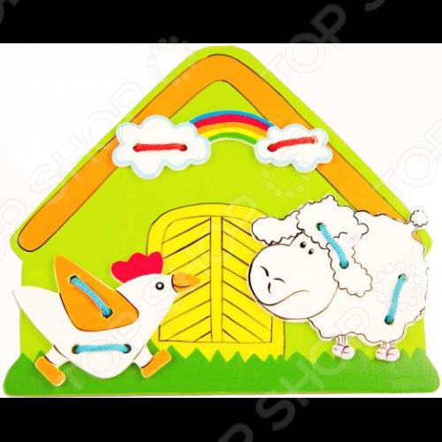 все цены на Игра развивающая для малыша Mapacha «Шнуровка. Ферма»