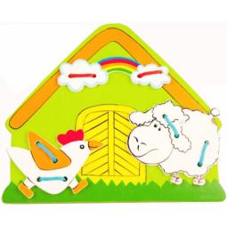фото Игра развивающая для малыша Mapacha «Шнуровка. Ферма»