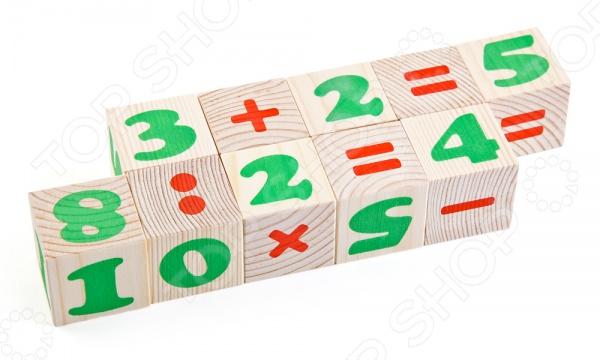 Кубики деревянные Томик «Цифры» 1111-3 Кубики деревянные Томик «Цифры» /