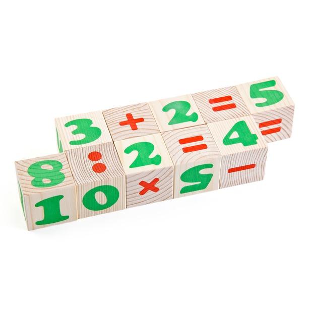 фото Кубики деревянные Томик «Цифры» 1111-3