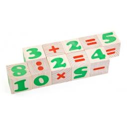 Купить Кубики деревянные Томик «Цифры» 1111-3