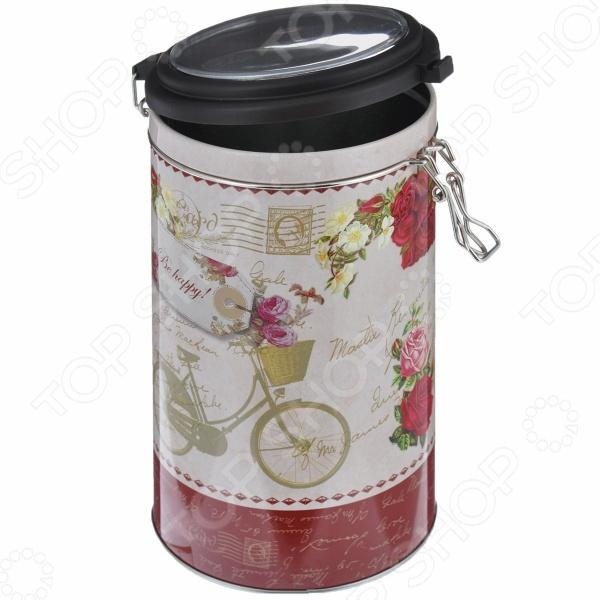 Емкость для сыпучих продуктов Феникс-Презент «Велосипед» банка для сыпучих продуктов феникс презент кофе 680 мл