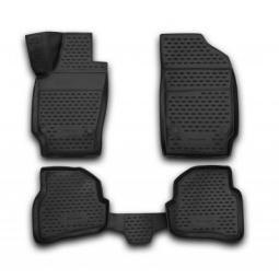 Комплект ковриков в салон автомобиля Novline-Autofamily Nissan Navara 2010 пикап. Цвет: черный - фото 6
