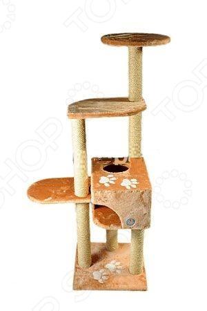 Комплекс многоэтажный для кошек ЗООНИК с аппликацией комплекс для кошек угловой с полками лестницей и канатом beeztees 405770