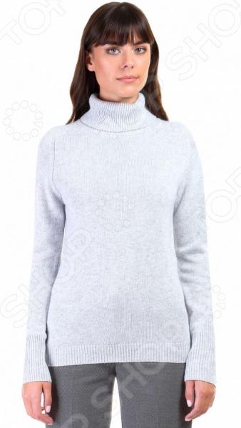 Джемпер Baon B136578. Цвет: серыйДжемперы. Кардиганы. Свитеры<br>Джемпер это не только универсальная, но и весьма демократичная одежда. В зависимости от кроя, цветовой гаммы и рисунка, он может стать частью как классического, так и casual-гардероба. Такая одежда не просто удобна и практична, она еще и легко сочетаема с другими предметами гардероба. Стильно и со вкусом Джемпер Baon B136578 подчеркнет ваш вкус и поможет создать стильный и гармоничный образ. Модель универсальна, прекрасно подходит для повседневного ношения и хорошо сочетается с брюками, джинсами и юбками-карандаш. Меланжево-серый джемпер будет также и отличным дополнением вашего базового гардероба. Особенно эффектно он смотрится в сочетании с вещами белого, черного, розового и синего цвета.  Особенности модели:  высокий воротник с отворотом;  рукава-реглан;  прямой силуэт;  сезон осень-зима. В качестве материала используется трикотаж с добавлением ангоры. Ткань очень мягкая и приятная на ощупь. Добавление к вискозе полиамида и полиэстера делает материал еще более прочным и устойчивым к истиранию. Также стоит отметить высокое качество используемых красителей. Они долго сохраняют свою яркость и не теряют цвет даже после многочисленных стирок.  Будь в тренде! Одежда Baon это синоним качества и стильного современного дизайна. Компания занимается производством как мужской, так и женской одежды. Коллекции соответствуют лучшим европейским трендам, а модели адаптированы под самые актуальные модные тенденции. Хотите выглядеть модно и стильно Тогда вперед за покупками в Baon!<br>