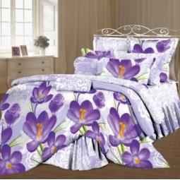 фото Комплект постельного белья Романтика «Цветы шафрана». 1,5-спальный