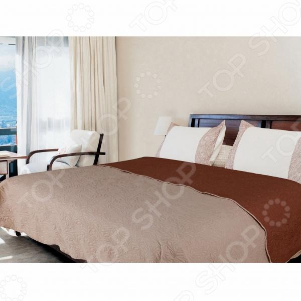 Покрывало Amore Mio Alba beige-brown покрывало amore mio покрывало alba цвет бежевый коричневый 200х220 см