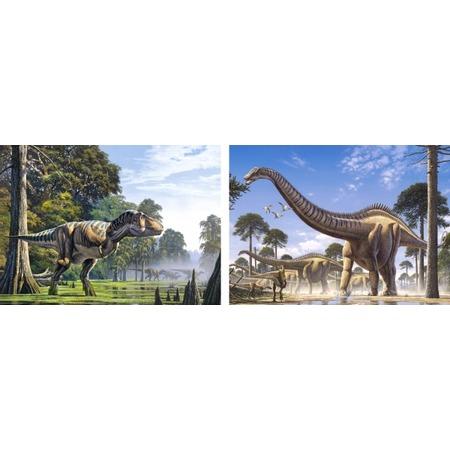 Купить Набор пазлов 2 в 1 Castorland «Динозавры»