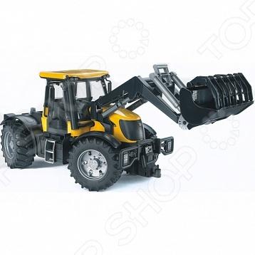 Трактор игрушечный Bruder с погрузчиком JCB Fastrac 3220 машинки tomy трактор john deere 6830 с двойными колесами и фронтальным погрузчиком