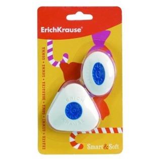 Купить Набор ластиков с центровкой Erich Krause Smart&Soft
