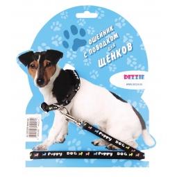 фото Ошейник с поводком для щенков DEZZIE Puppy Dog. Цвет: черный