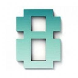 фото Дверной номерок Студия Артемия Лебедева «Дигитус» 8. Цвет: голубой