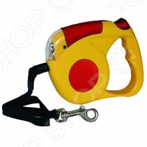 Поводок-рулетка TRIOL FD9118С цепь поводок для собак triol с кожаной ручкой 3х110х10см