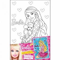 фото Набор для росписи по холсту Росмэн «Любимая Барби»